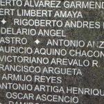 Name of Mauricio on DesaparecidosMonumentWall